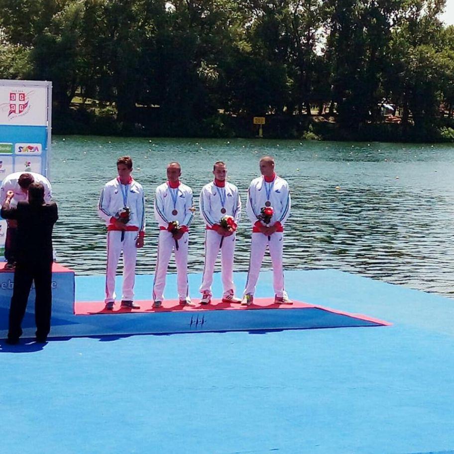 Медал за  СККК<<ДУНАВ>> от Европейското по кану-каяк за младежи и девойки до 23г.,юноши и девойки